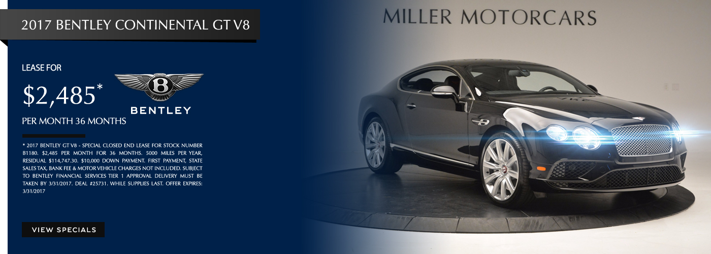 2017 Bentley Continental GT V8 Lease Special