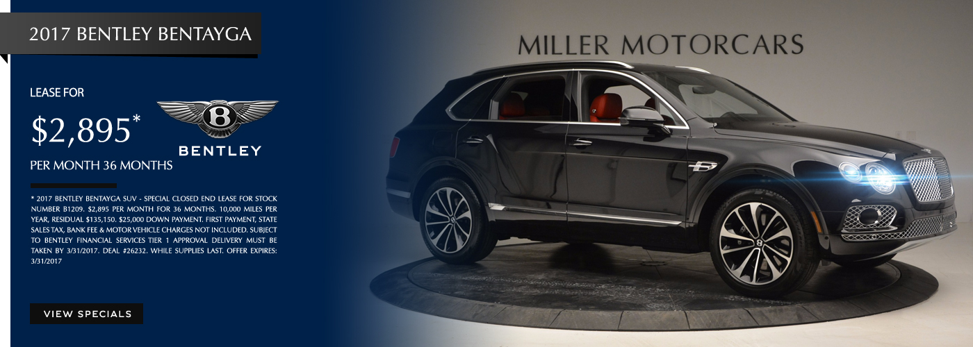 2017 Bentley Bentayga Lease Special