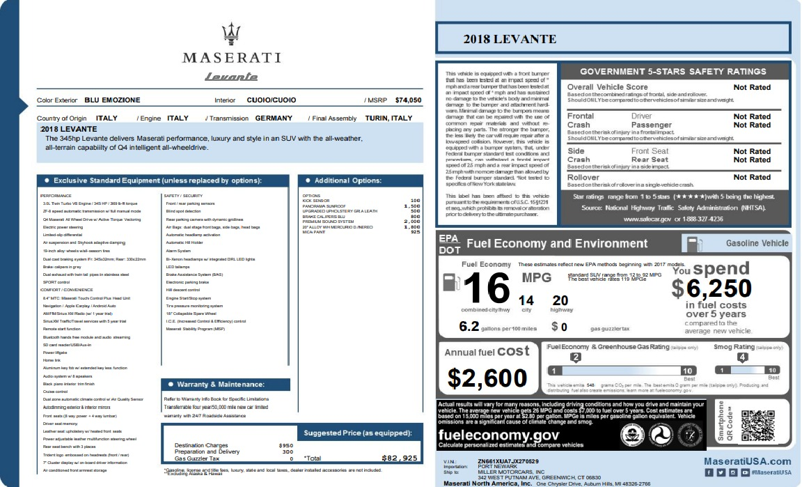 New 2018 Maserati Levante Q4 For Sale In Greenwich, CT 1558_p33