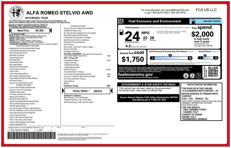 New 2018 Alfa Romeo Stelvio Q4 For Sale In Greenwich, CT 2059_p26