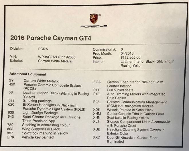 Used 2016 Porsche Cayman GT4 For Sale In Greenwich, CT 2234_p23