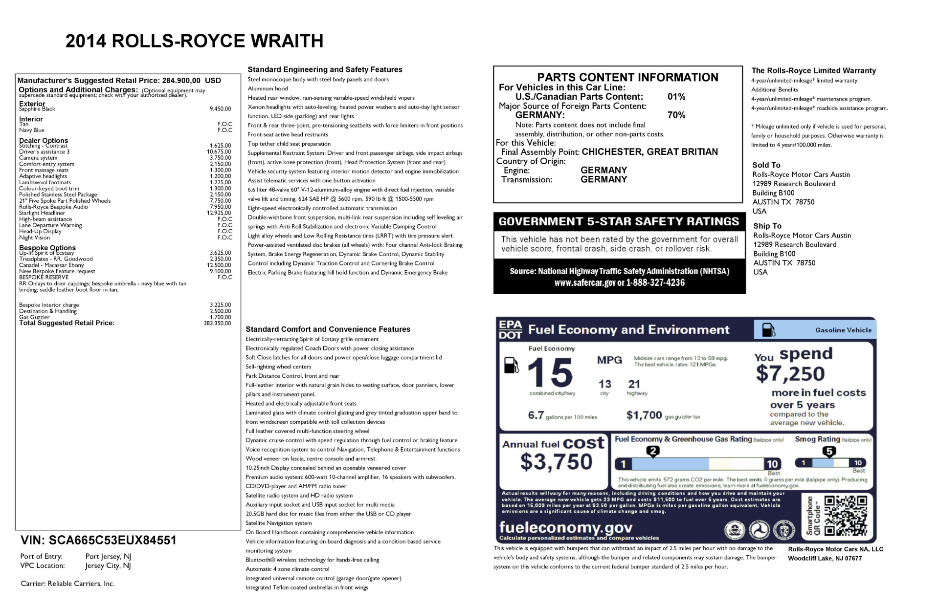 Used 2014 Rolls-Royce Wraith  For Sale In Greenwich, CT 2305_p32
