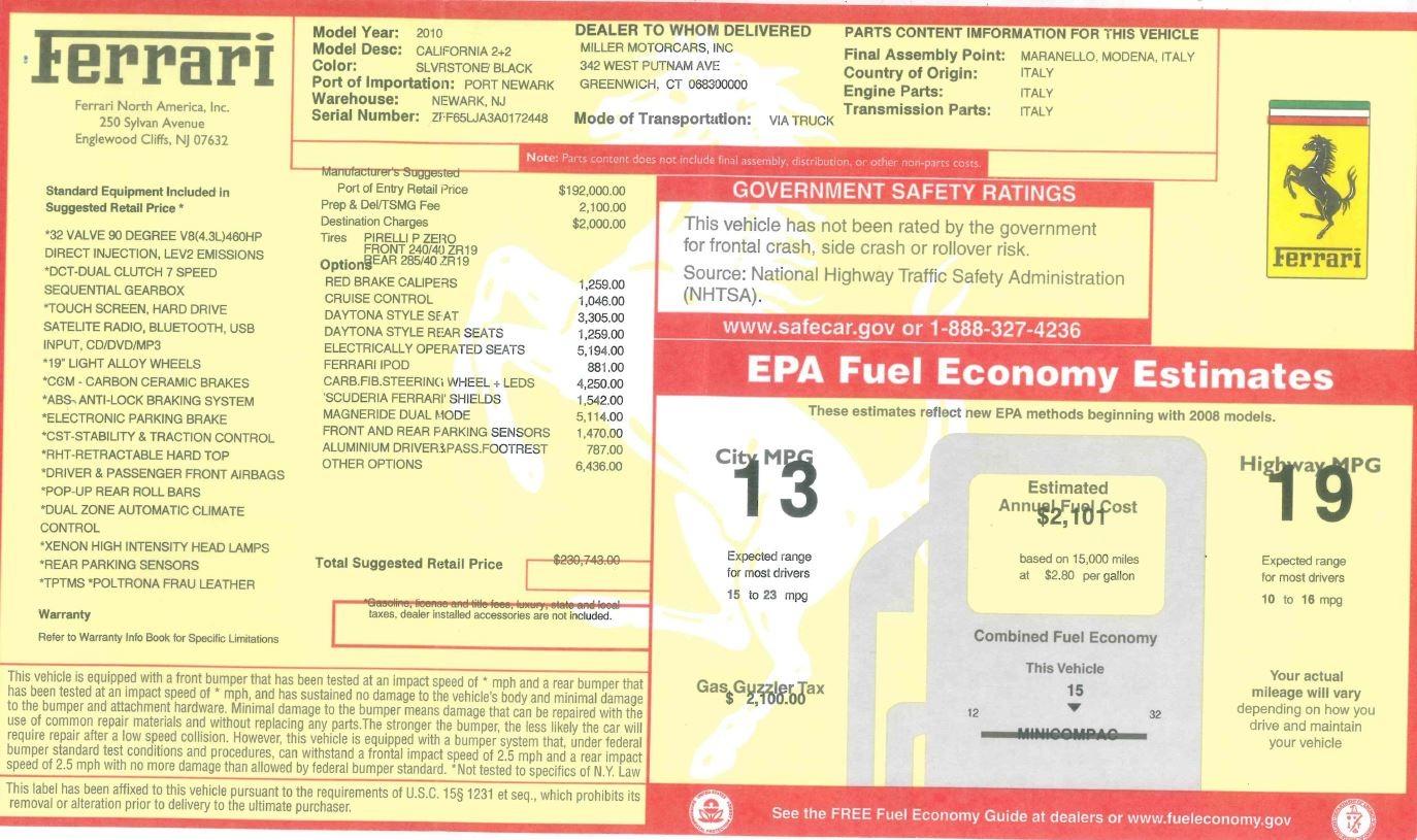 Used 2010 Ferrari California  For Sale In Greenwich, CT 2424_p34