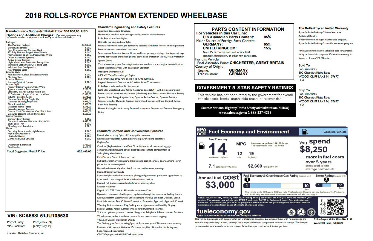New 2018 Rolls-Royce Phantom EWB For Sale In Greenwich, CT 2488_p7