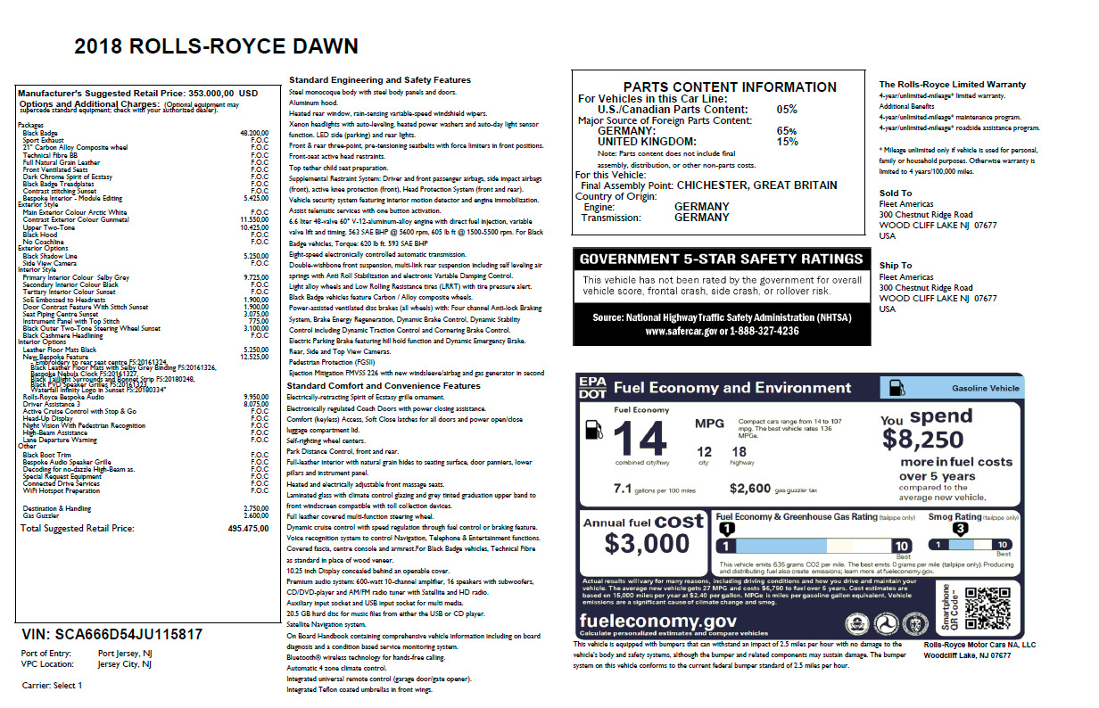 New 2018 Rolls-Royce Dawn  For Sale In Greenwich, CT 2500_p7