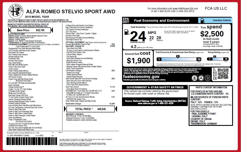 New 2019 Alfa Romeo Stelvio Sport Q4 For Sale In Greenwich, CT 2760_p26