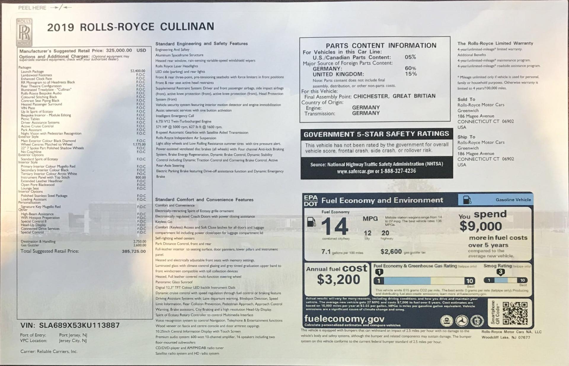 New 2019 Rolls-Royce Cullinan  For Sale In Greenwich, CT 2852_p38