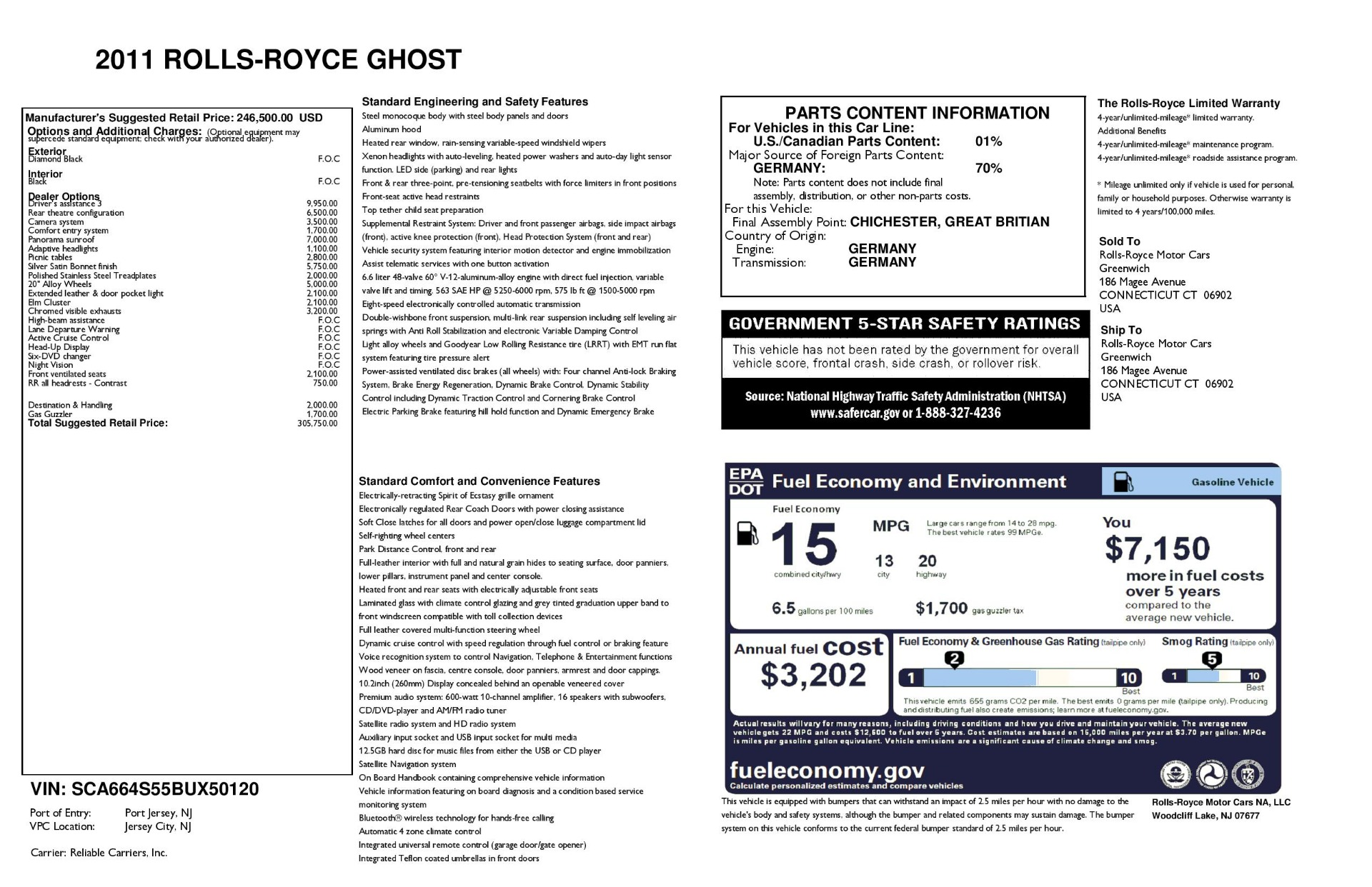Used 2011 Rolls-Royce Ghost  For Sale In Greenwich, CT 2994_main