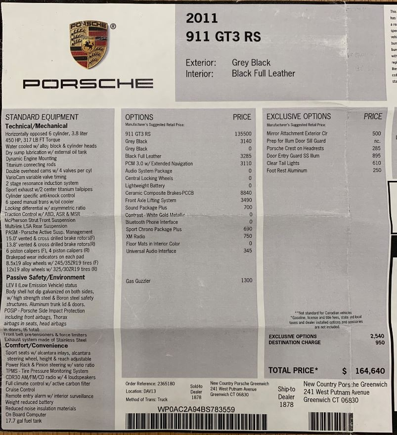 Used 2011 Porsche 911 GT3 RS For Sale In Greenwich, CT 3012_p22