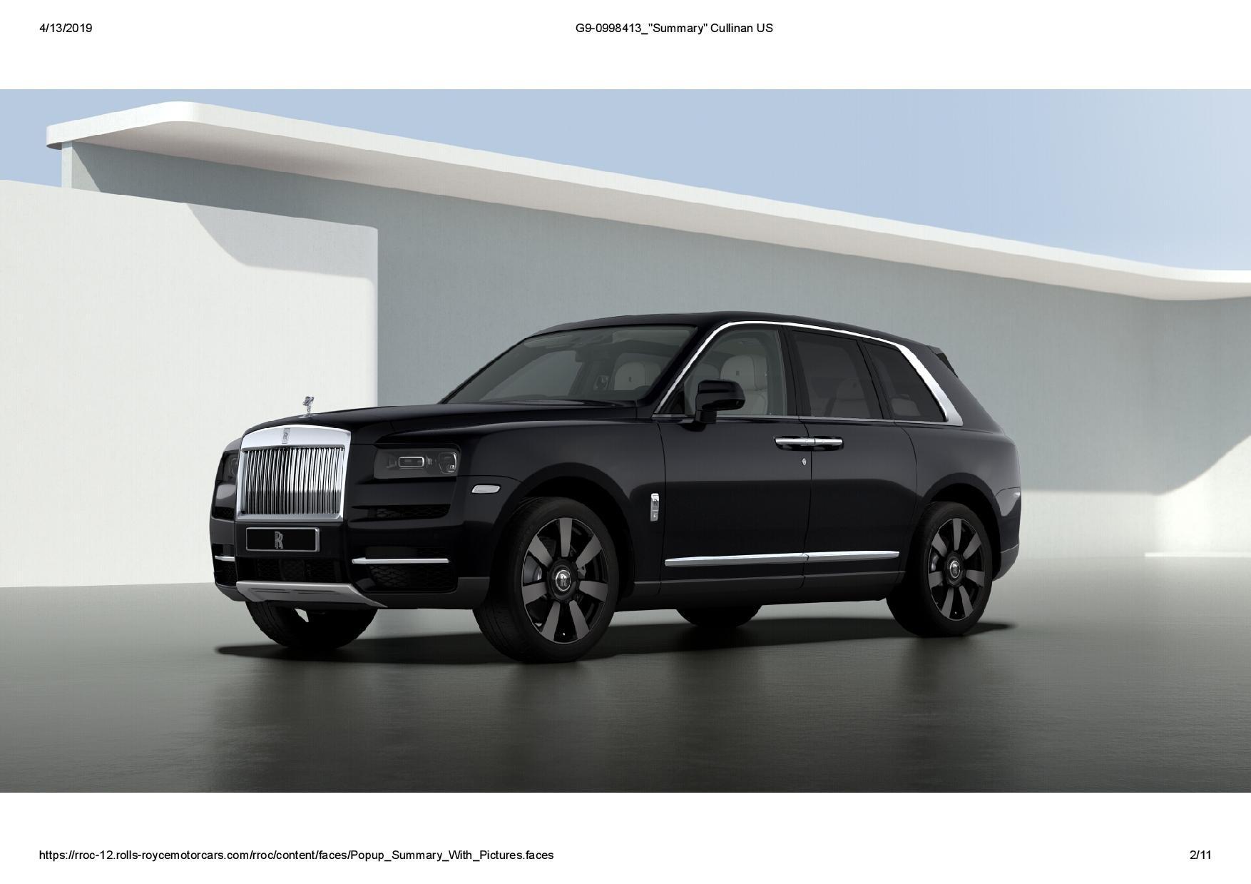 New 2019 Rolls-Royce Cullinan  For Sale In Greenwich, CT 3100_main