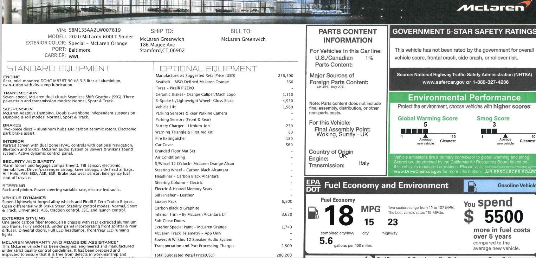 New 2020 McLaren 600LT Spider Convertible For Sale In Greenwich, CT 3109_p30