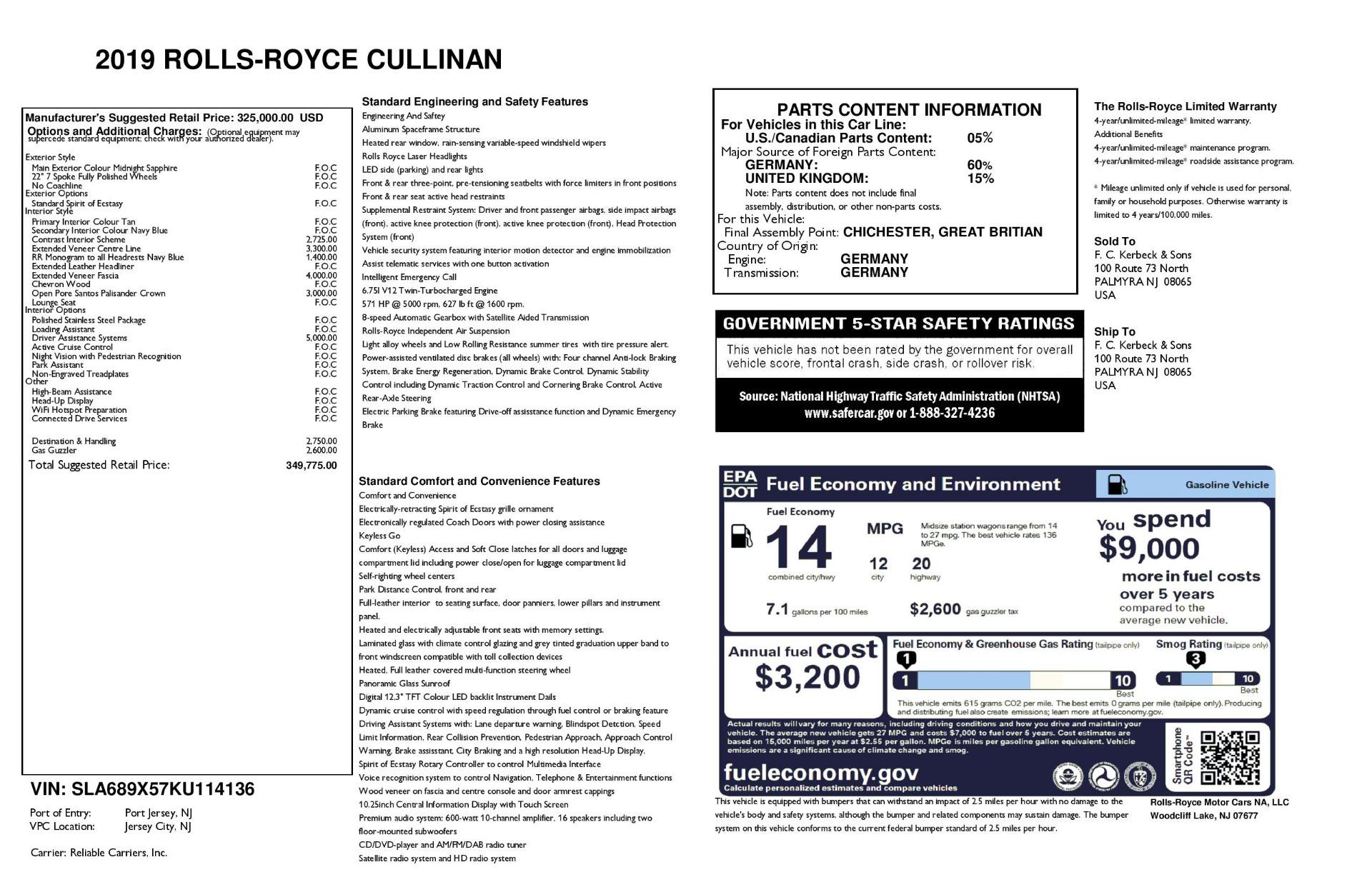 New 2019 Rolls-Royce Cullinan  For Sale In Greenwich, CT 3223_p56
