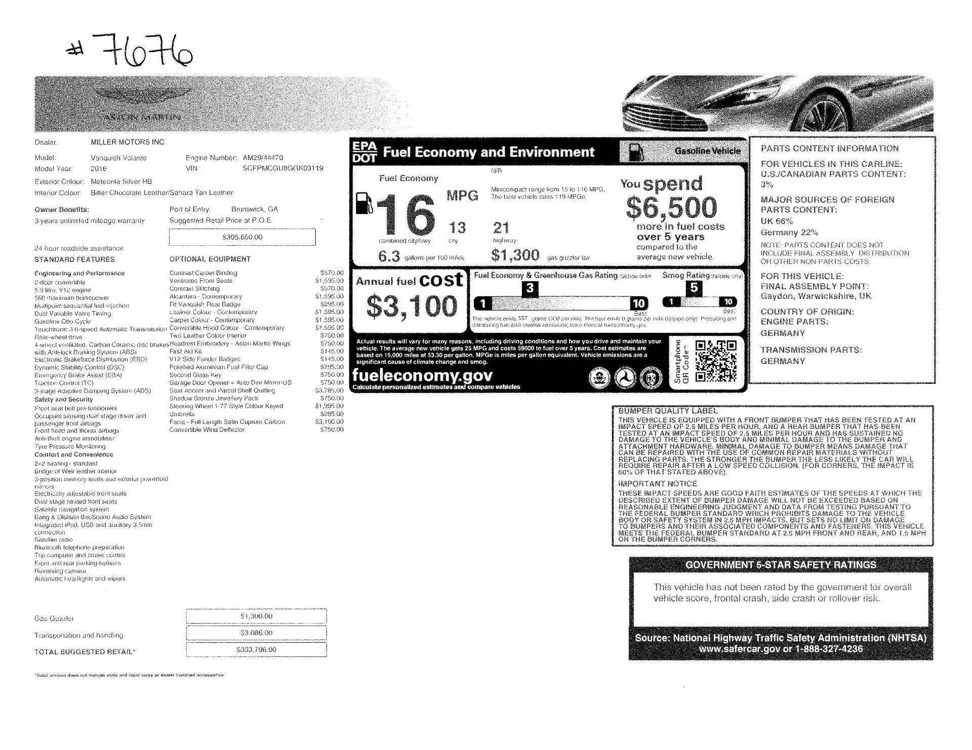 Used 2016 Aston Martin Vanquish Volante For Sale In Greenwich, CT 3542_p28