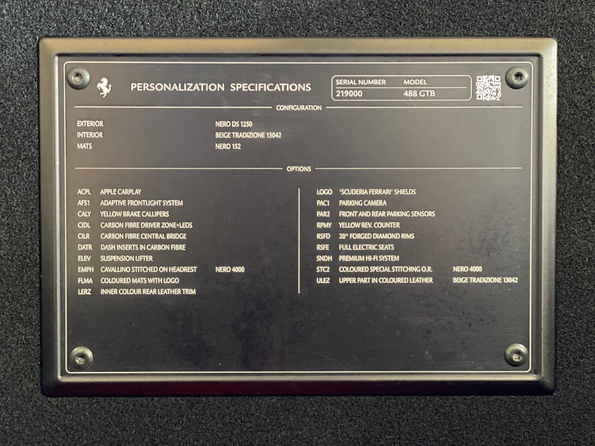 Used 2017 Ferrari 488 GTB  For Sale In Greenwich, CT 3555_p20