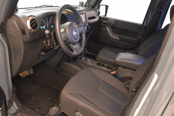 Used 2014 Jeep Wrangler Unlimited Sport for sale Sold at Bentley Greenwich in Greenwich CT 06830 14