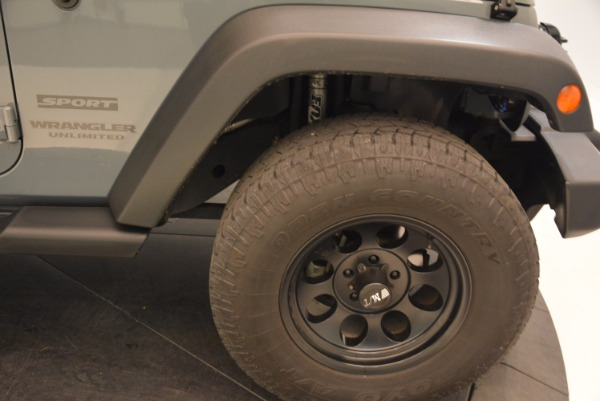 Used 2014 Jeep Wrangler Unlimited Sport for sale Sold at Bentley Greenwich in Greenwich CT 06830 26