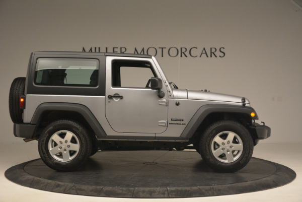 Used 2015 Jeep Wrangler Sport for sale Sold at Bentley Greenwich in Greenwich CT 06830 9