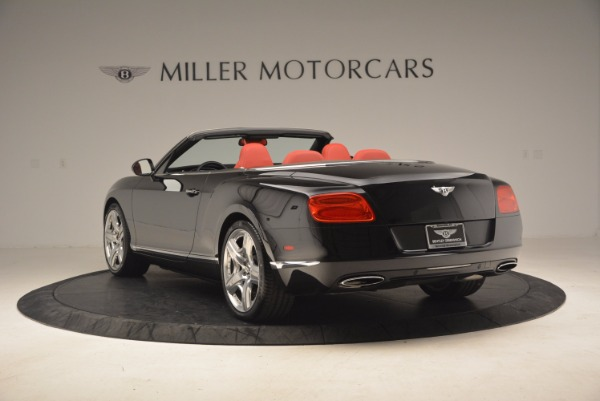 Used 2012 Bentley Continental GT W12 Convertible for sale Sold at Bentley Greenwich in Greenwich CT 06830 5