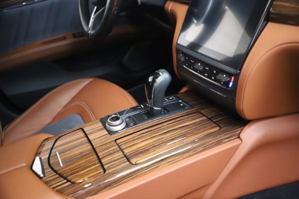 Used 2017 Maserati Quattroporte SQ4 GranLusso/ Zegna for sale $62,900 at Bentley Greenwich in Greenwich CT 06830 22