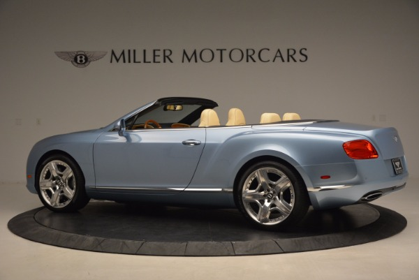 Used 2012 Bentley Continental GTC W12 for sale Sold at Bentley Greenwich in Greenwich CT 06830 4