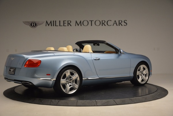 Used 2012 Bentley Continental GTC W12 for sale Sold at Bentley Greenwich in Greenwich CT 06830 8
