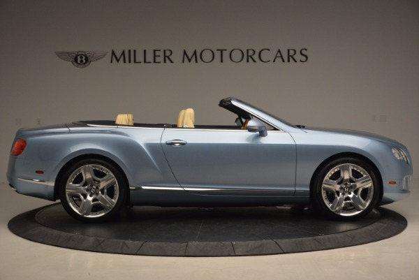 Used 2012 Bentley Continental GTC W12 for sale Sold at Bentley Greenwich in Greenwich CT 06830 9