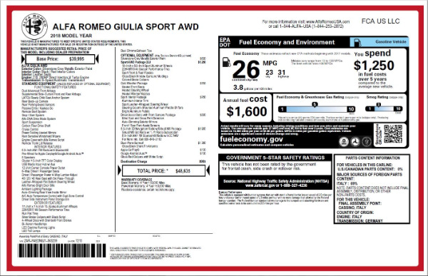 New 2018 Alfa Romeo Giulia Ti Sport Q4 for sale Sold at Bentley Greenwich in Greenwich CT 06830 26