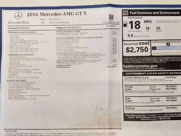 Used 2016 Mercedes-Benz AMG GT S for sale Sold at Bentley Greenwich in Greenwich CT 06830 25