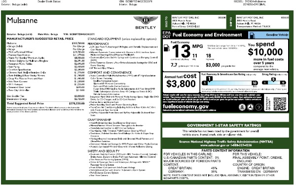 Used 2016 Bentley Mulsanne for sale Sold at Bentley Greenwich in Greenwich CT 06830 26