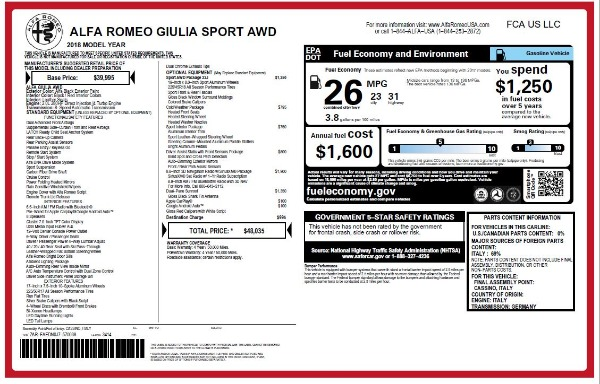 New 2018 Alfa Romeo Giulia Sport Q4 for sale Sold at Bentley Greenwich in Greenwich CT 06830 20