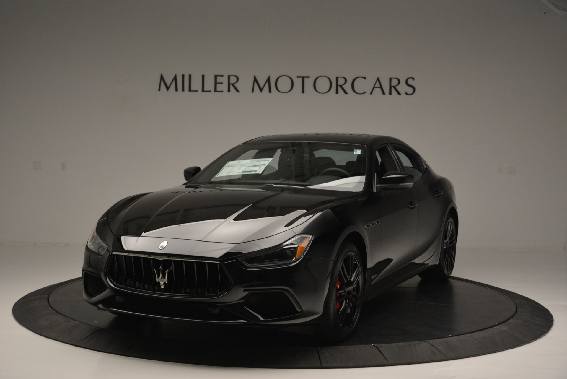 New 2018 Maserati Ghibli SQ4 GranSport Nerissimo for sale Sold at Bentley Greenwich in Greenwich CT 06830 1