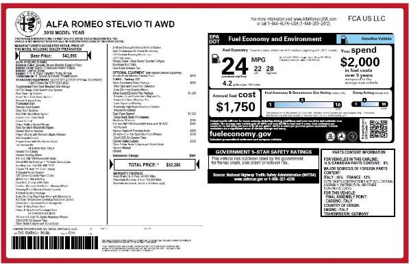 New 2018 Alfa Romeo Stelvio Ti Q4 for sale Sold at Bentley Greenwich in Greenwich CT 06830 26