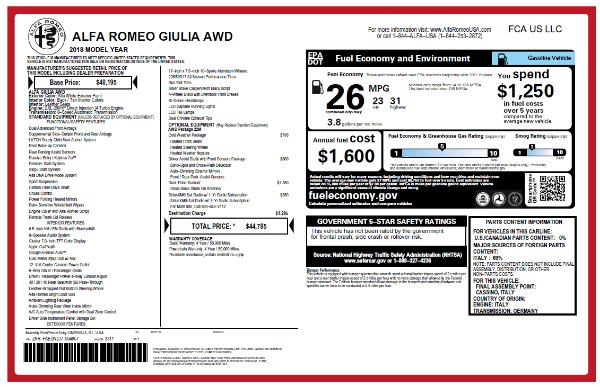 New 2018 Alfa Romeo Giulia Q4 for sale Sold at Bentley Greenwich in Greenwich CT 06830 26