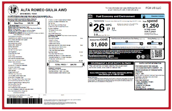 New 2018 Alfa Romeo Giulia Q4 for sale Sold at Bentley Greenwich in Greenwich CT 06830 22