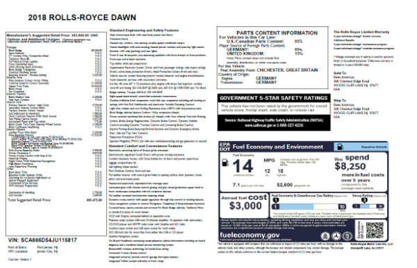 New 2018 Rolls-Royce Dawn for sale Sold at Bentley Greenwich in Greenwich CT 06830 7
