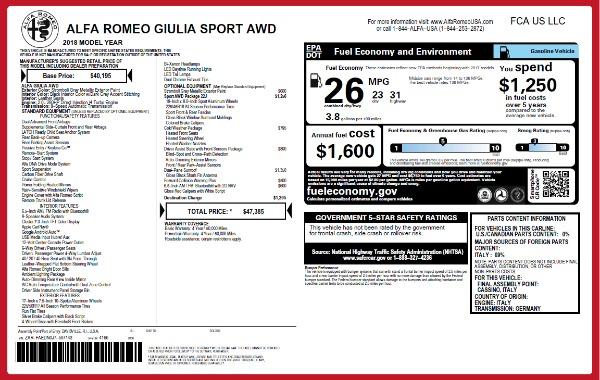 New 2018 Alfa Romeo Giulia Sport Q4 for sale Sold at Bentley Greenwich in Greenwich CT 06830 2