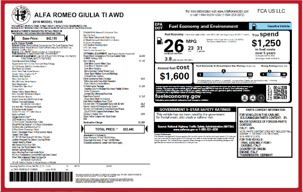 New 2018 Alfa Romeo Giulia Ti Q4 for sale Sold at Bentley Greenwich in Greenwich CT 06830 26