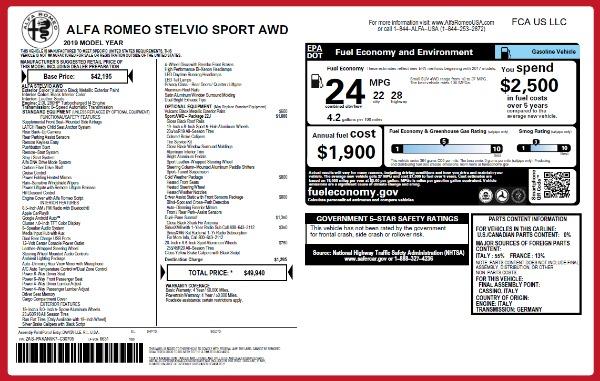 New 2019 Alfa Romeo Stelvio Sport Q4 for sale Sold at Bentley Greenwich in Greenwich CT 06830 26
