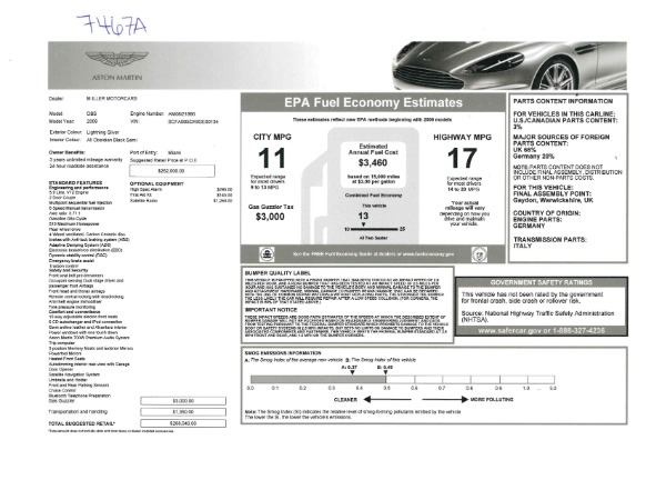 Used 2009 Aston Martin DBS Coupe for sale Sold at Bentley Greenwich in Greenwich CT 06830 26