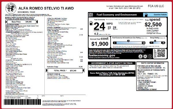 New 2019 Alfa Romeo Stelvio Ti Q4 for sale Sold at Bentley Greenwich in Greenwich CT 06830 2