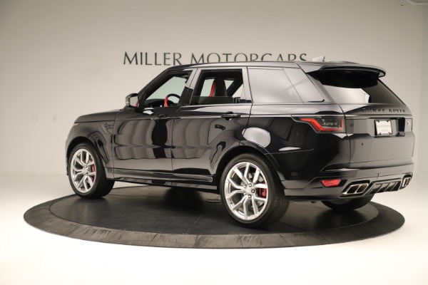 Used 2019 Land Rover Range Rover Sport SVR for sale Sold at Bentley Greenwich in Greenwich CT 06830 4