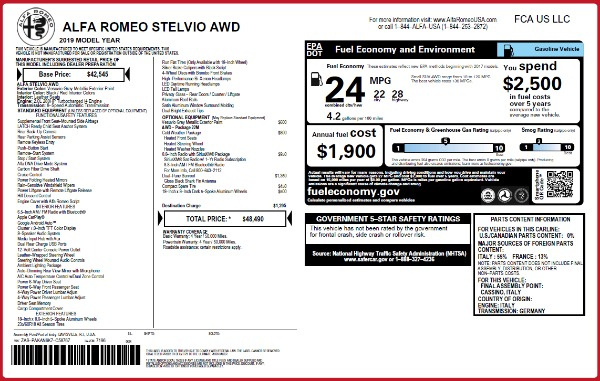 New 2019 Alfa Romeo Stelvio Q4 for sale Sold at Bentley Greenwich in Greenwich CT 06830 2