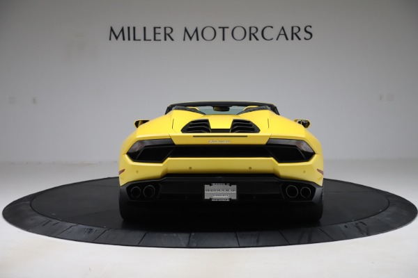 Used 2018 Lamborghini Huracan LP 580-2 Spyder for sale $203,900 at Bentley Greenwich in Greenwich CT 06830 6