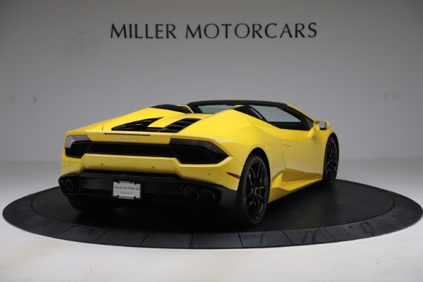 Used 2018 Lamborghini Huracan LP 580-2 Spyder for sale $203,900 at Bentley Greenwich in Greenwich CT 06830 7