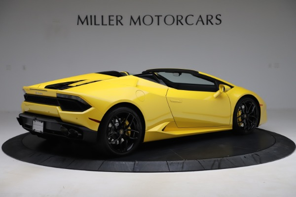 Used 2018 Lamborghini Huracan LP 580-2 Spyder for sale $203,900 at Bentley Greenwich in Greenwich CT 06830 8
