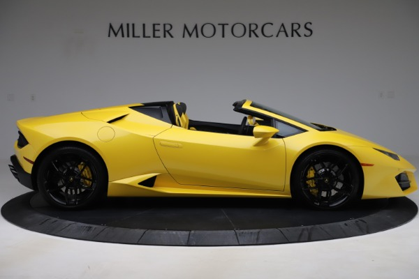 Used 2018 Lamborghini Huracan LP 580-2 Spyder for sale $203,900 at Bentley Greenwich in Greenwich CT 06830 9