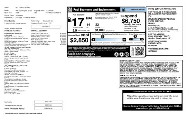 New 2020 Aston Martin DBS Superleggera for sale $338,286 at Bentley Greenwich in Greenwich CT 06830 24
