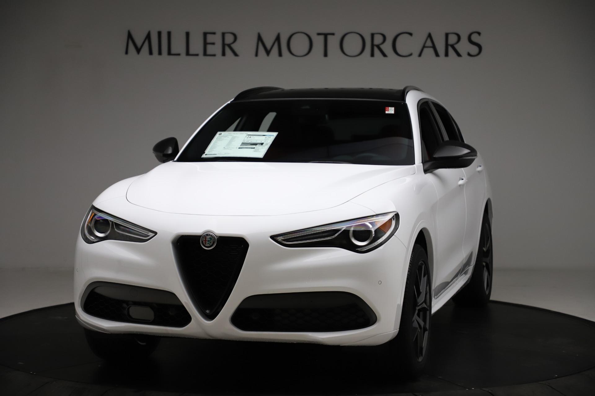 New 2021 Alfa Romeo Stelvio Ti Sport Q4 for sale $55,490 at Bentley Greenwich in Greenwich CT 06830 1