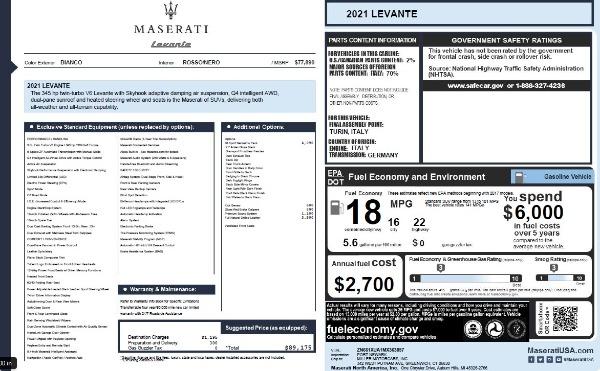 New 2021 Maserati Levante Q4 for sale $76,769 at Bentley Greenwich in Greenwich CT 06830 27