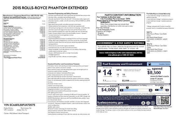 Used 2015 Rolls-Royce Phantom EWB for sale $289,900 at Bentley Greenwich in Greenwich CT 06830 26